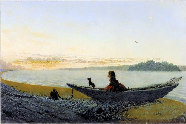 Alfred Edward Emslie_AT TWILIGHT