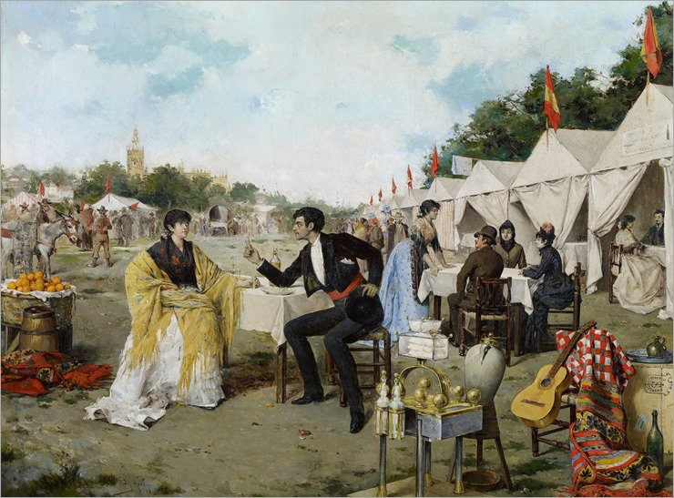 At the Fair - 1886 - Rafael Arroyo Fernandez (SPANISH PAINTER)