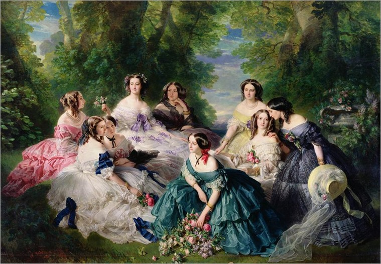 empress-eugenie-surrounded-by-her-ladies-in-waiting-franz-xaver-winterhalter