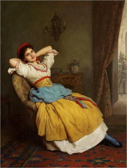 Ernest Gustave Girardot (British, active 1860-1893) A pause