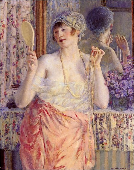 Frederick Frieseke Woman- Before A Mirror