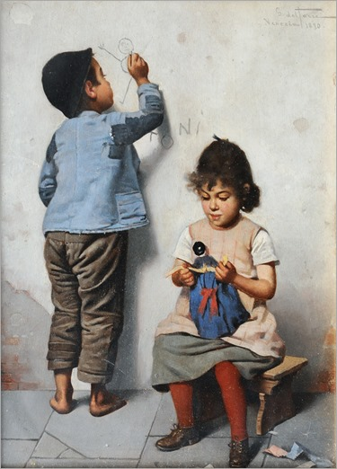 Giulio del Torre_Playing Children