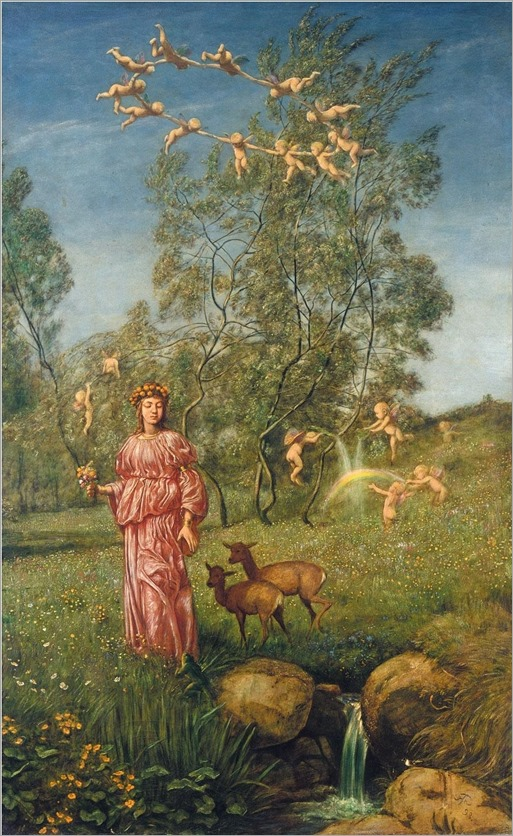 Hans Thoma-An allegory of springtime