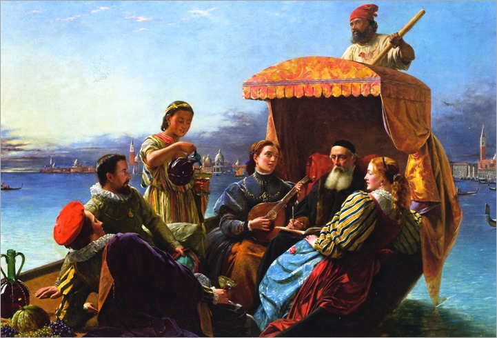 Happy Days of Titian - Henry Nelson O'Neill (british painter)