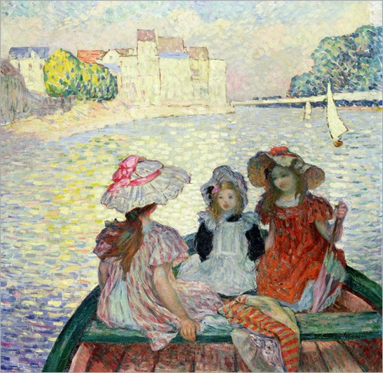 henri-lebasque-young-girls-in-a-boat