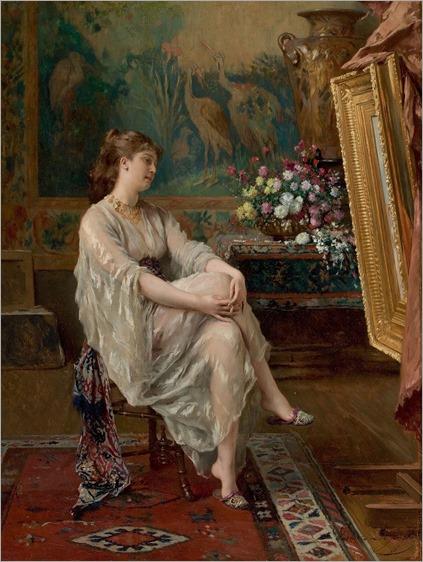 In the Artist's Studio. Gustave Léonard de Jonghe (Belgian, 1829-1893)