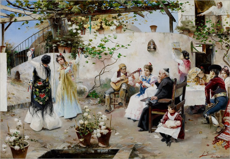 Juan García Ramos (spanish, 1856-1915) - A Dance for the Priest -c.1890