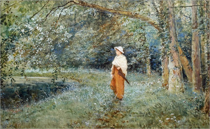 Linnie Watt (1875-1908) - A Woodland Walk