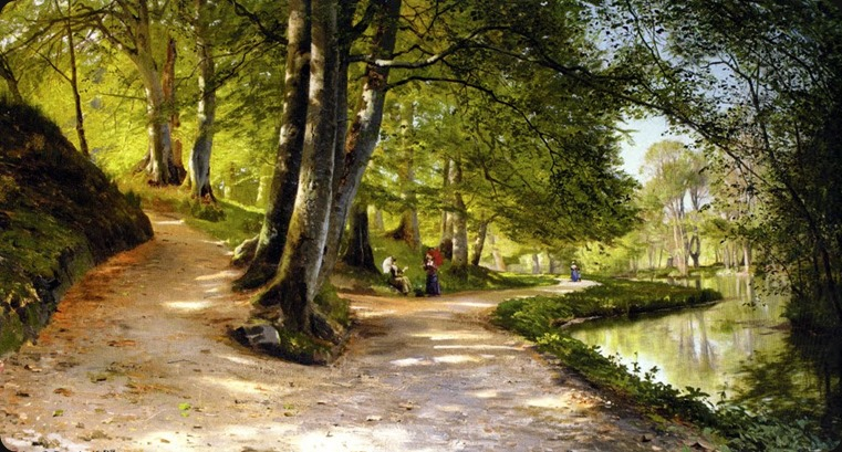 Peder Mork Monsted_Den Rode Paraplay, 1888