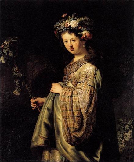 Saskia as Flora 1634-Rembrandt