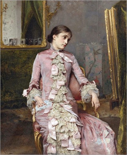 Seated Woman in Pink - Rogelio de Egusquiza (spanish painter)