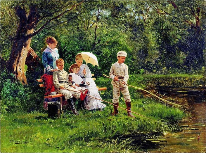 summer day_Vladimir Yegorovich Makovsky (russian painter)