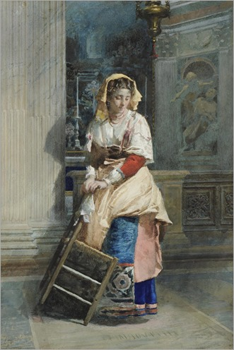 the church cleaner-Jose Tapiro Y Baro (1830-1913) Spanish