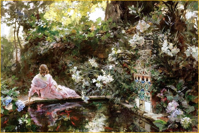 The Pond - Francisco Pradilla y Ortiz (spanish painter)