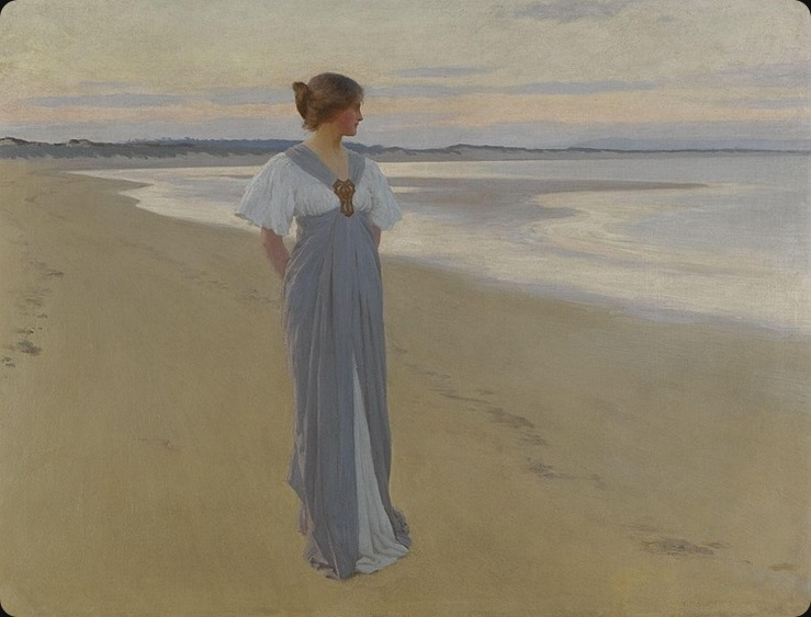 WILLIAM HENRY MARGETSON (english, 1861-1940) ON THE SANDS