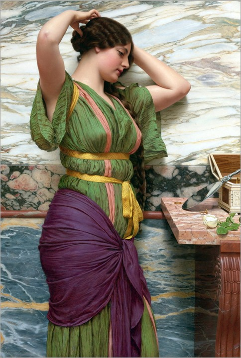 a fair reflection-John William Godward