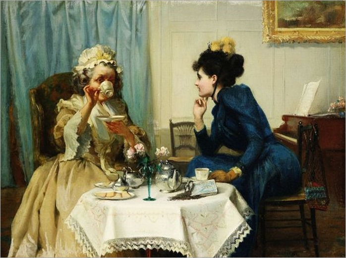 Albert Chevallier Tayler (1862 - 1925) - Tea time
