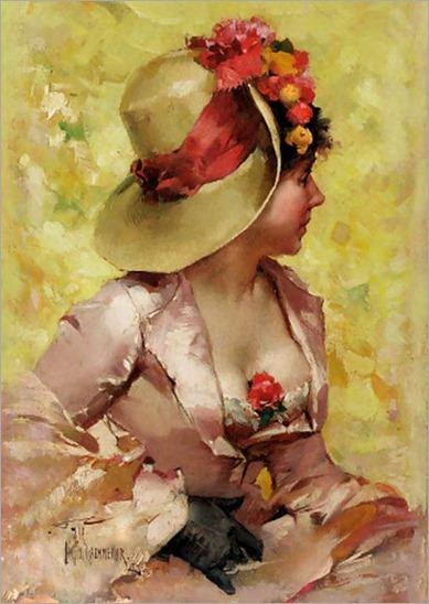 an elegant lady-Frederick Hendrik Kaemmerer