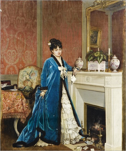 Auguste Toulmouche (french, 1829-1890)- The letter (la lettre)