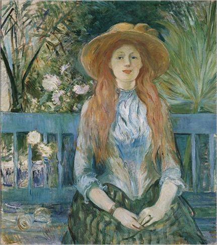 Berthe MORISOT (Bourges, 1841 - Paris, 1895), Jeune fille dans un parc, 1888-1893
