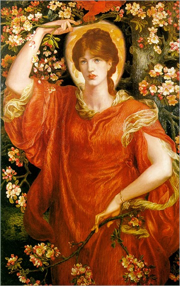 Dante Gabriel Rossetti (english, pre-raphaelite painter, 1828-1882)- A Vision of Fiammetta 1878