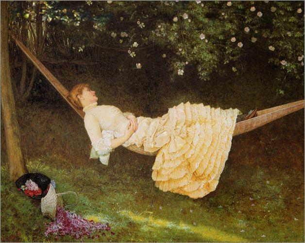 Edward Killingworth Johnson - The Hammock 1881