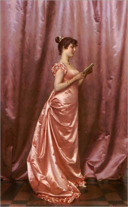 Elegant lady in pink - Vittorio Reggianini