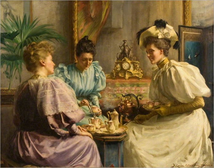 Five O'Clock Tea - David Comba Adamson (scottish painter)