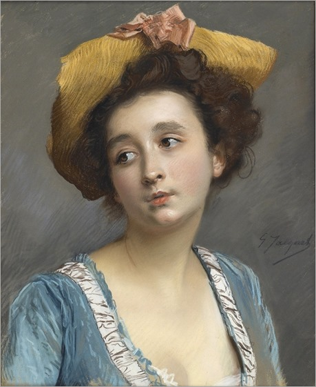 Gustave Jean Jacquet (french, 1846-1909) - La belle en bleu