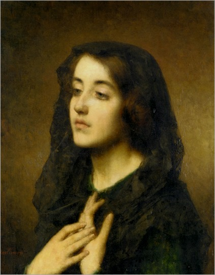 Harlamoff_Alexej_Alexejewitsch_Modesty_Oil_On_Canvas