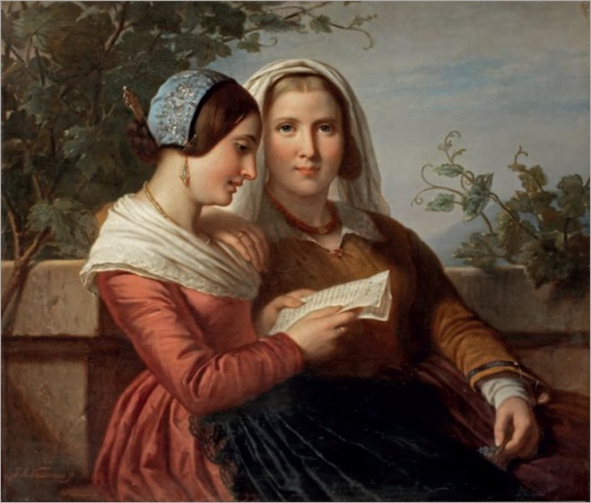 Jan Adam Kruseman (1804-1862) A carta de amor