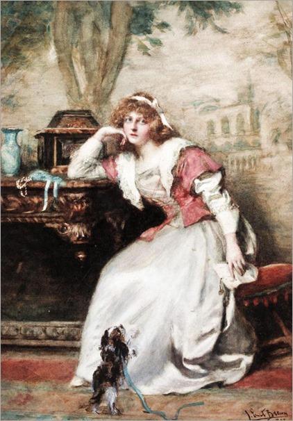John Ernest Breun, XIX century, The letter, 1897