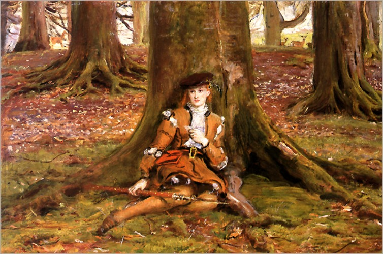 JohnEverettMillais-RosalindInTheForest