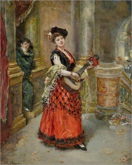 la belle guitariste-Eduardo Leon Garrido