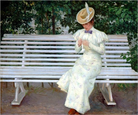 Lady on a Bench - Paul-Gustave Fischer