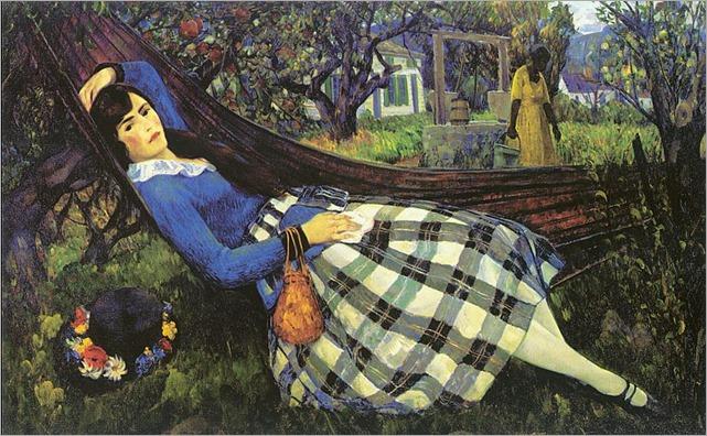 leon kroll - in the hammock