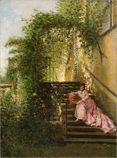 Leonardo Bazzaro (1853 - 1937) - The warm hours, 1878