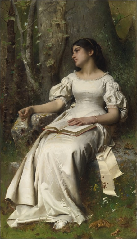 Meditation-Léon-Jean-Basile Perrault (French, 1832-1908)