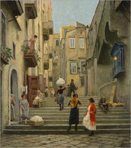 Naples street scene - Paul-Gustave Fischer