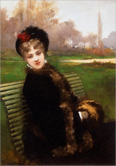 on the park bench - Jules-James Rougeron