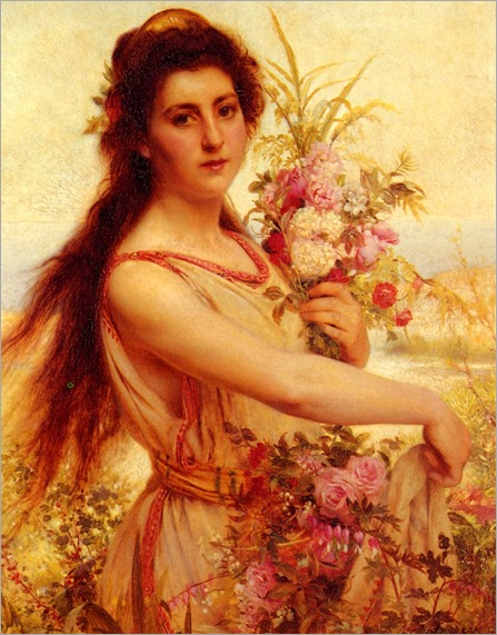 PierreJanVanDerOuderaa_young_beauty_gathering_flowers