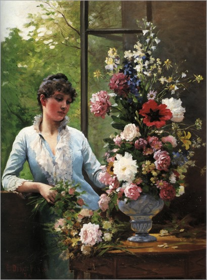 Preparing the Flower Arrangement-Edouard Bernard Debate Ponsan