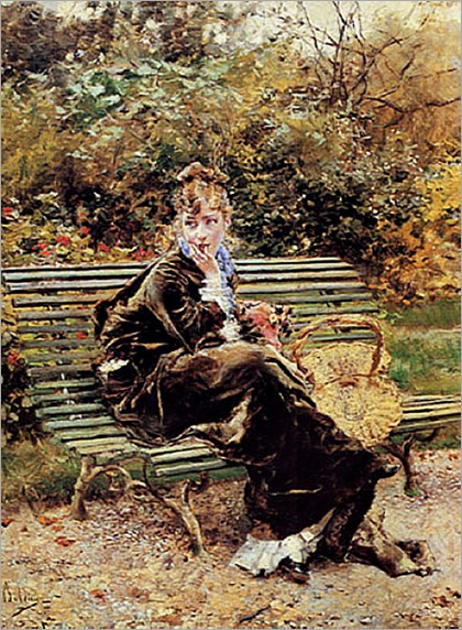 Sitting in the Garden-Giovanni-Boldini