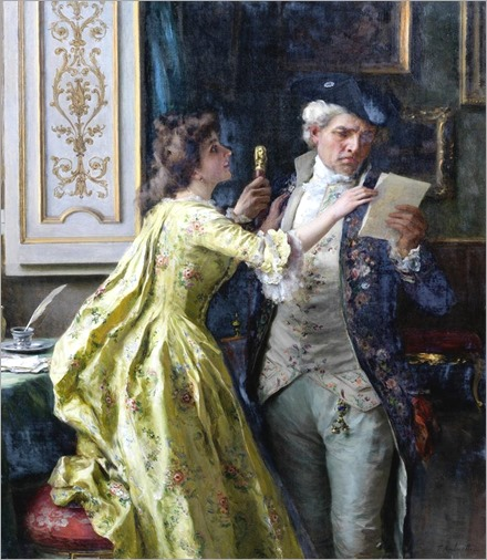 The intercepted letter_Federico Andreotti (italian painter)