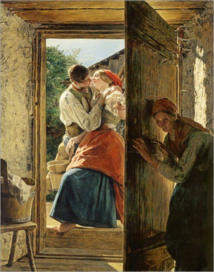 the kiss_Ferdinand Georg Waldmüller - 1858