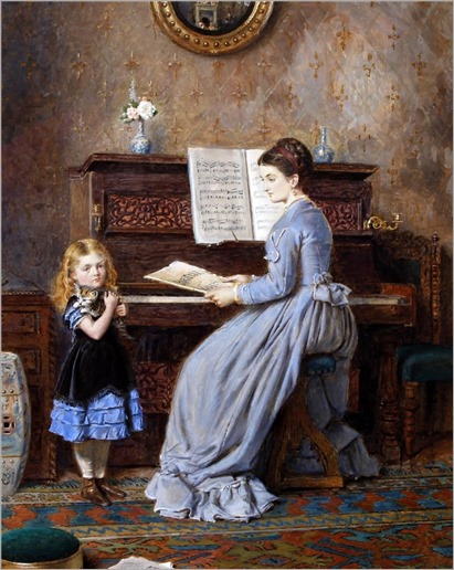 The Piano Lesson - George Goodwin Kilburne