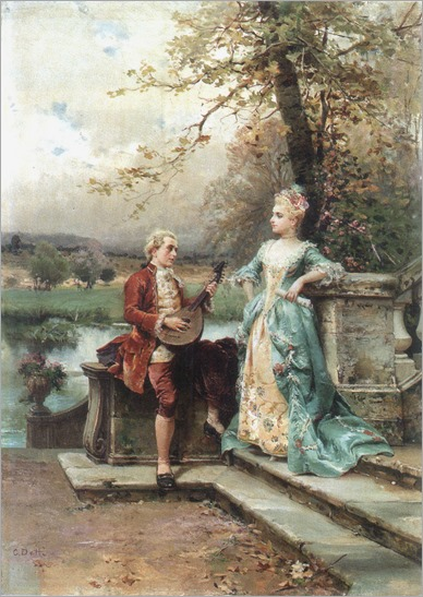The Serenade. Cesare-Auguste Detti (Italian, 1847-1914). Oil on canvas