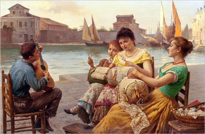 venetian lacemakers - Antonio Paoletti (italian)