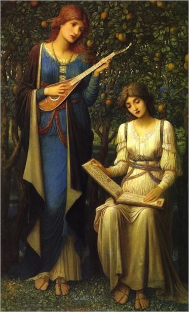 When Apples were Golden and Songs were Sweet but Summer had Passed Away (c.1906) by John Melhuish Strudwick (1849-1937)
