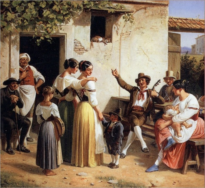Wilhelm_Marstrand_allegrezza popolare all'osteria_1853